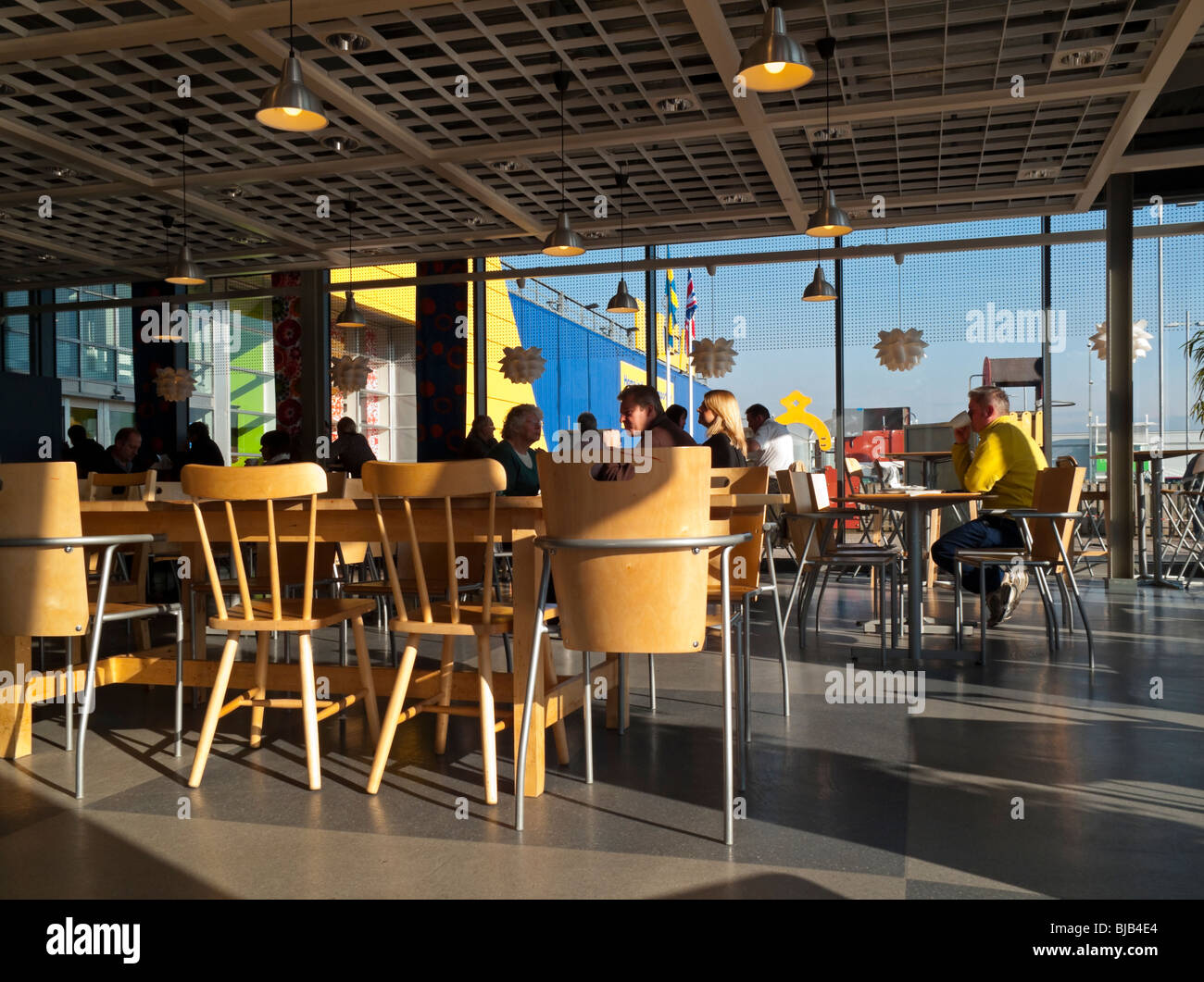Interior of ikea cafe at giltbrook retail park near