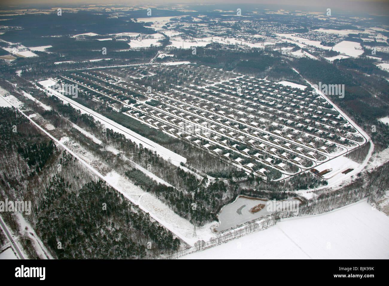 Aerial View Snow Muna Ammunition Depot Wulfen Wenge