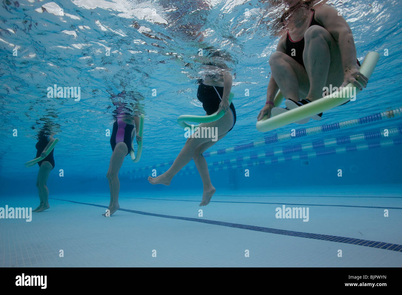 underwater views of an aqua aerobics or water aerobics