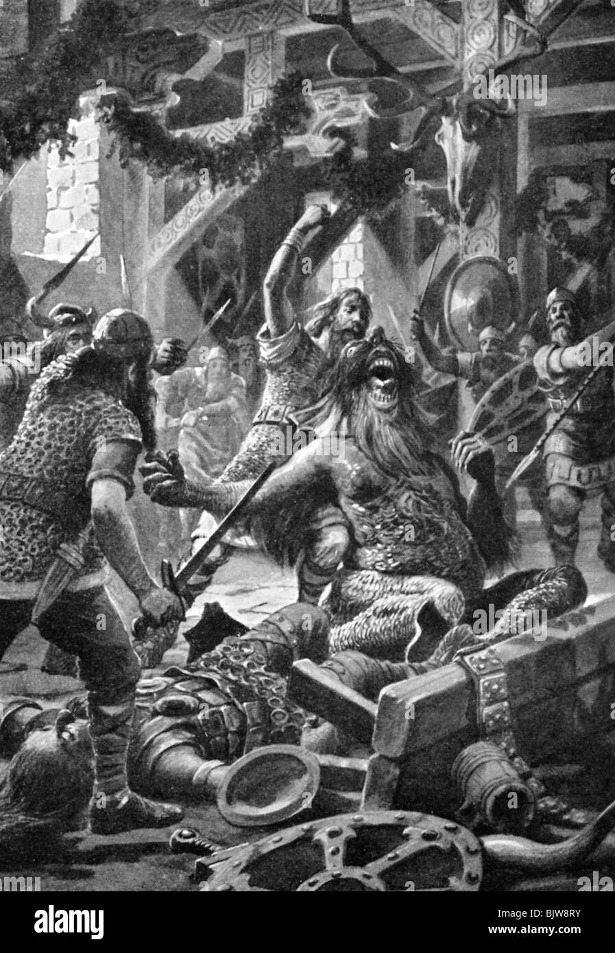 the epic of beowulf order overpowers Reflection on beowulf essaysthe story of beowulf is clearly an epic of mass used alliteration at certain times in the poem in order to heighten the.