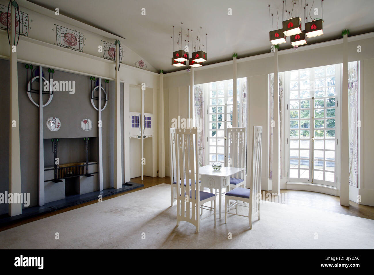 Charles rennie mackintosh house for an art lover the for Designer room glasgow