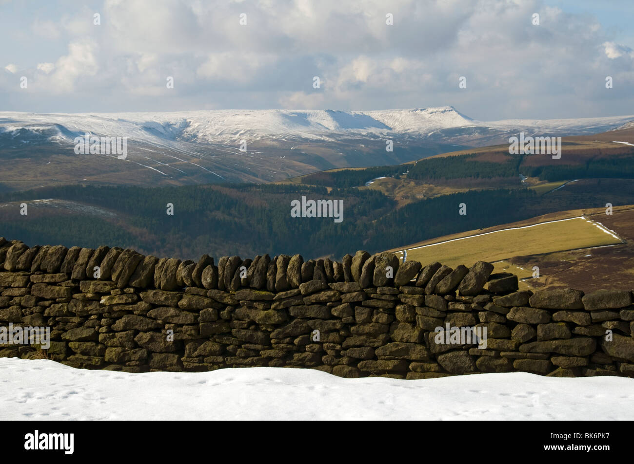 The Kinder Scout Plateau From Derwent Edge Derwent Moors