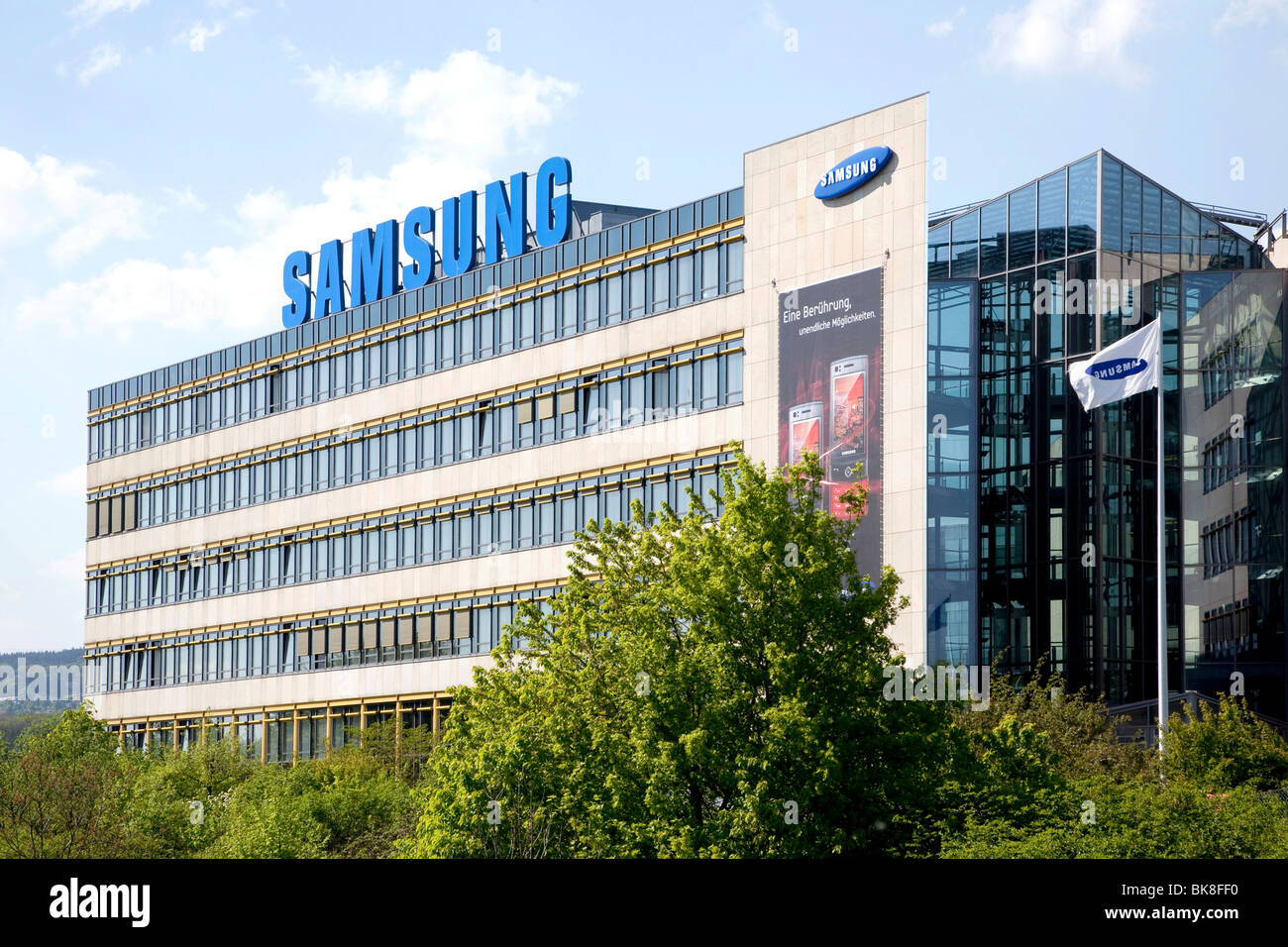 samsung electronics gmbh company headquarters in germany schwalbach stock photo royalty free. Black Bedroom Furniture Sets. Home Design Ideas