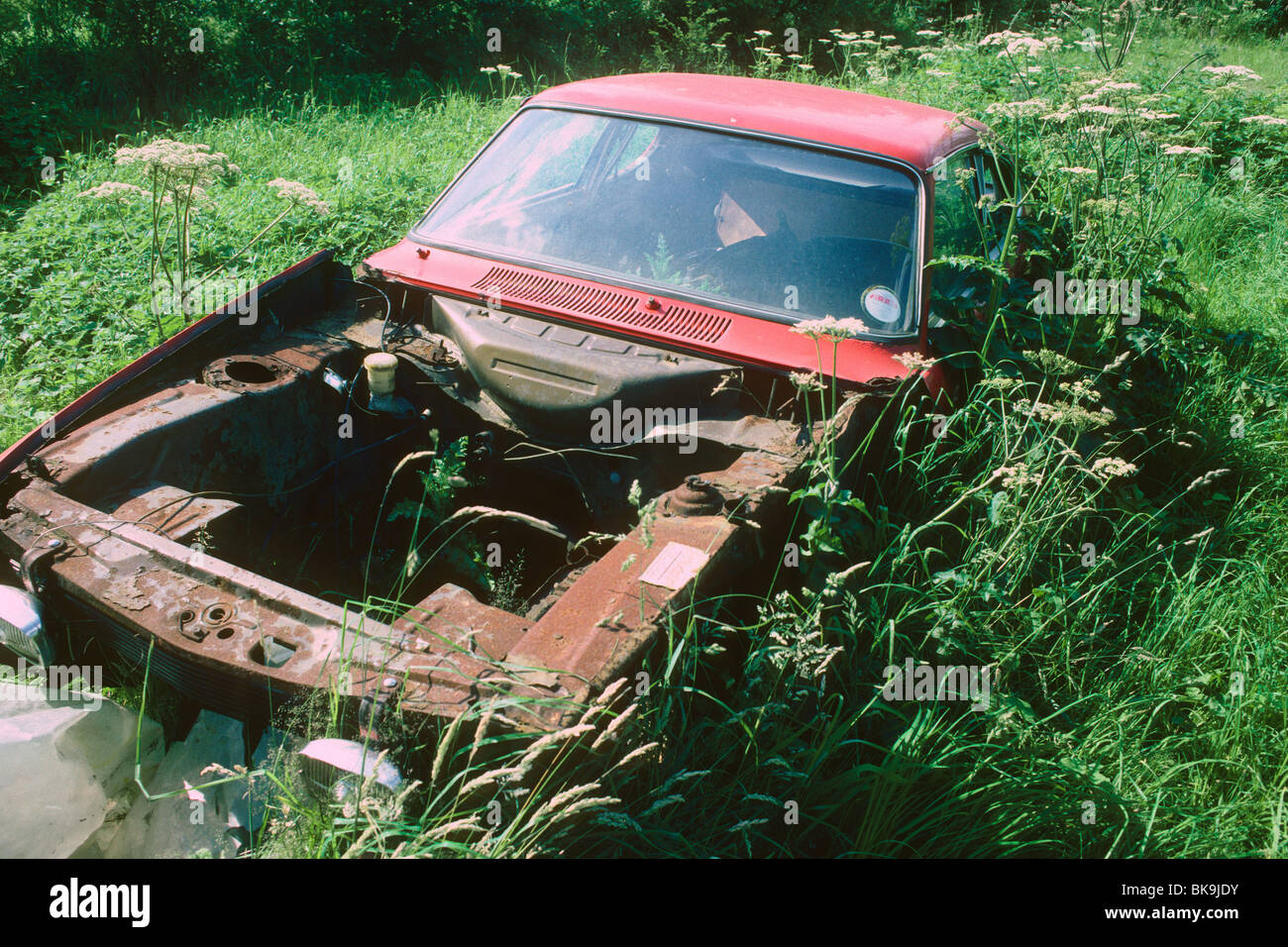 old-car-dumped-in-a-field-BK9JDY.jpg