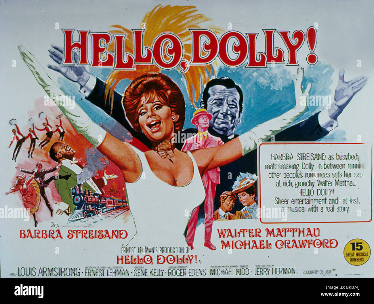 hello dolly 1969 poster stock photo royalty free image