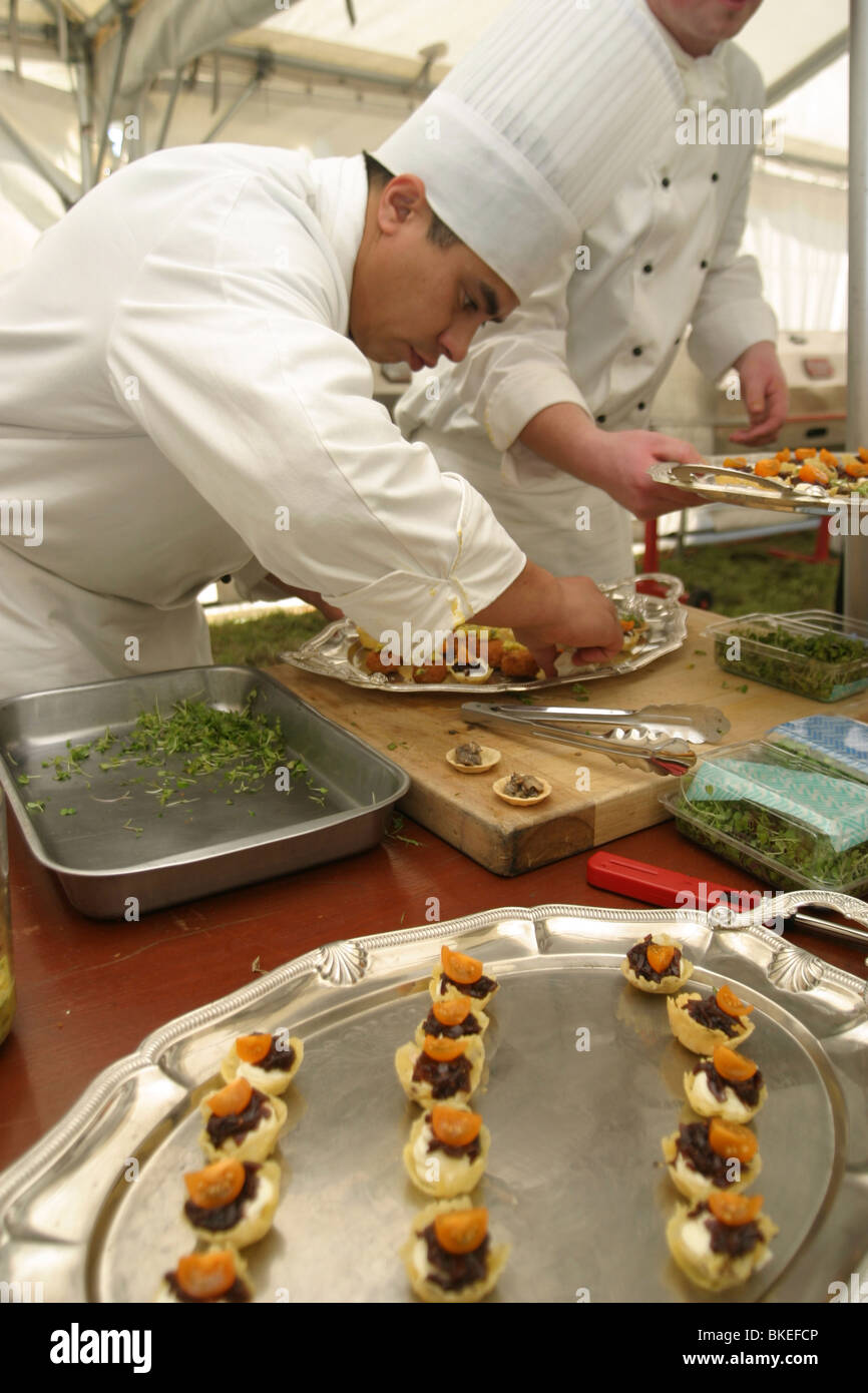 Chef prepares hors d 39 oeuvre entr e appetizer new zealand stock photo royalty free image - Chef d oeuvre ...