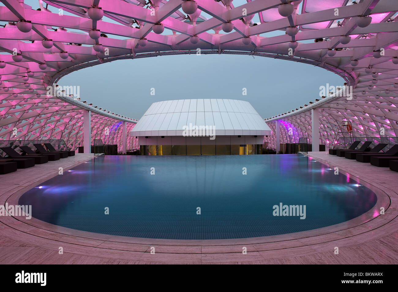 Swimming Pool At Yas Marina Hotel Abu Dhabi Stock Photo Royalty Free Image 29446142 Alamy