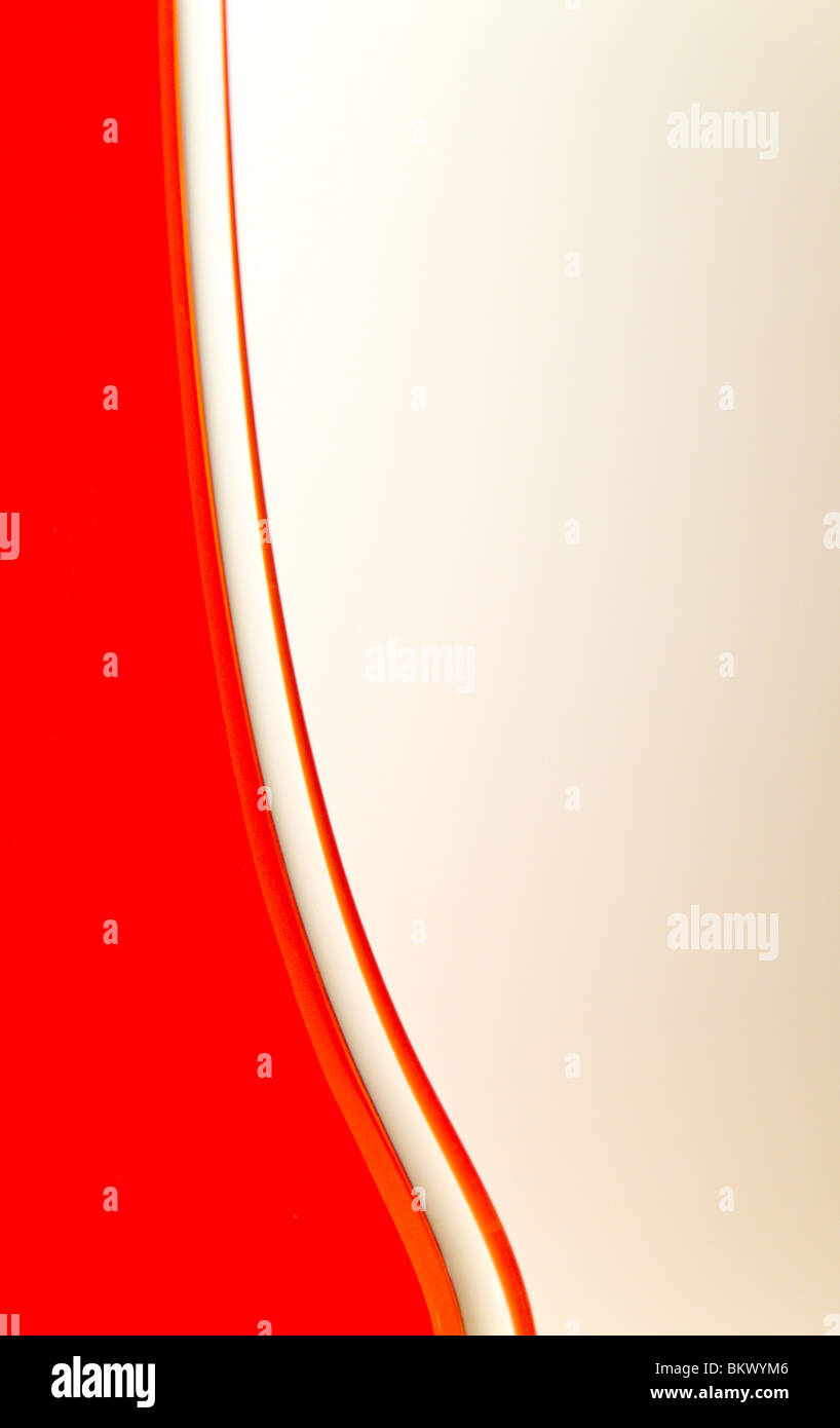 Close up detail of an orange glass vase Stock Foto