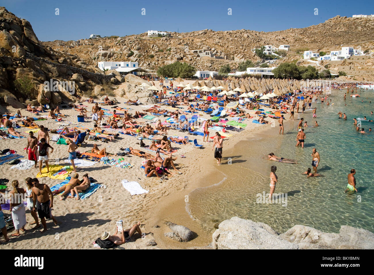 Best Island Beaches For Partying Mykonos St Barts: People Bathing At Super Paradise Beach, Knowing As A