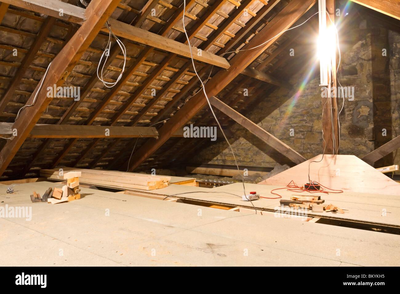 Loft Conversion In Progress In An Edwardian Terraced House