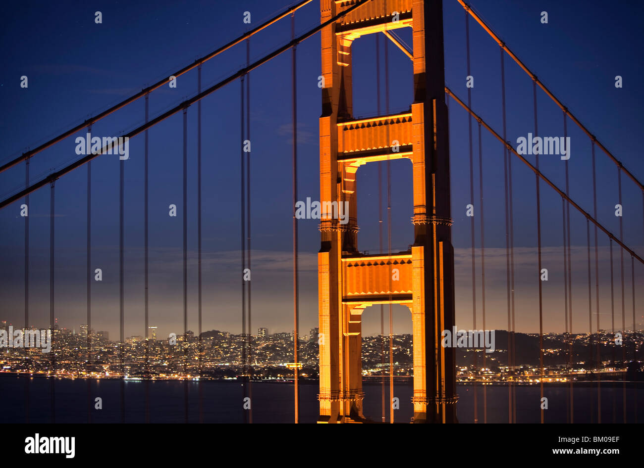 The Golden Gate Bridge Stock Photo