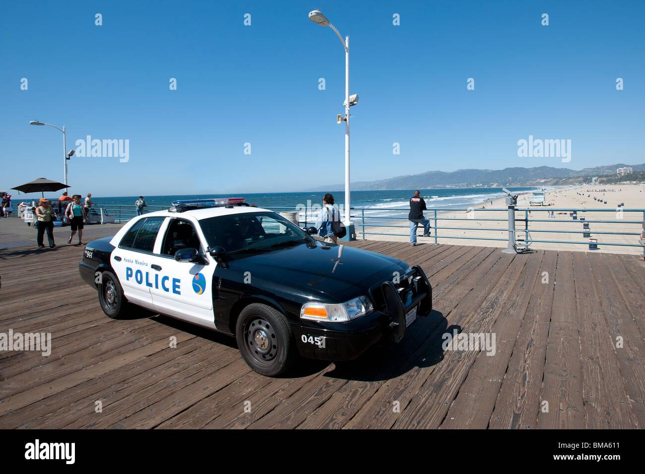 Santa Monica Police Car On Santa Monica Pier California