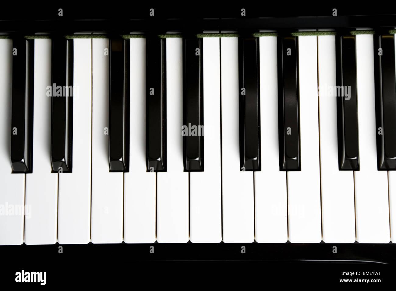 Piano Key close up shot Stock Foto