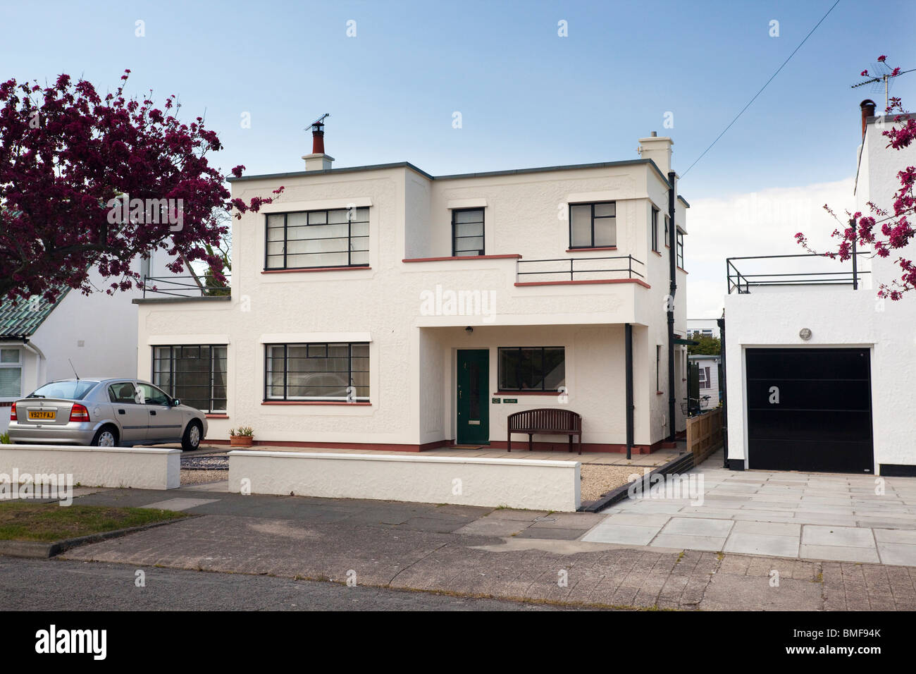Cape cod style home further art deco style house at frinton on sea