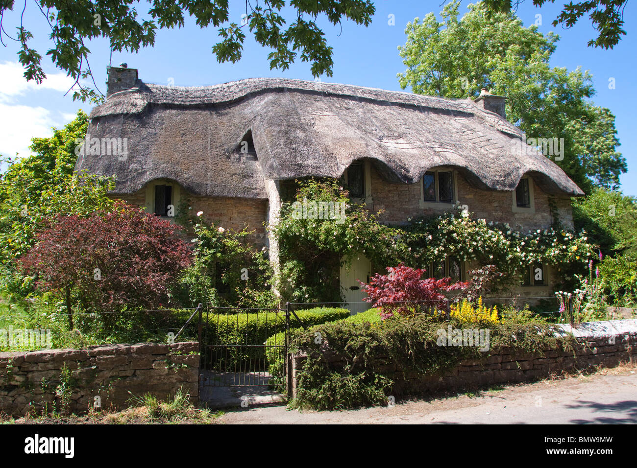 Traditional Thatched Roof Cottage In Merthyr Mawr Merthyr