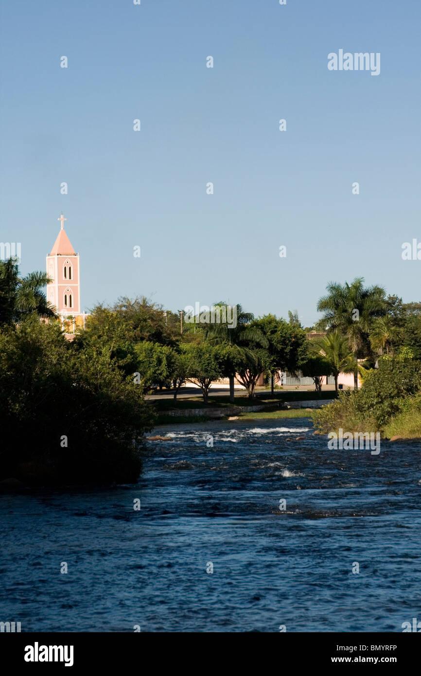 Correntes River, Correntina, Bahia, Brazil Stock Photo