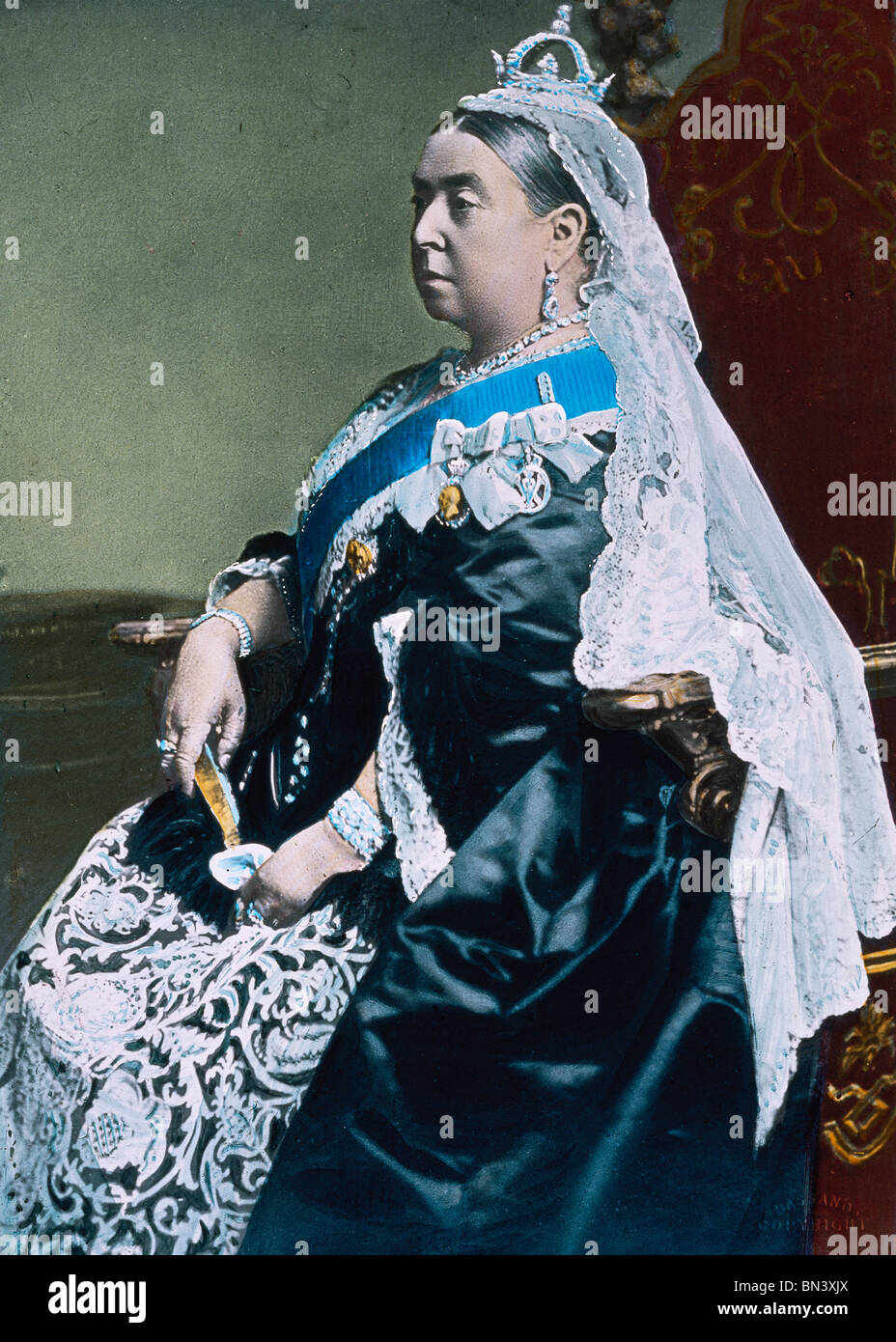 Queen Victoria England Late 19th Century Stock Photo