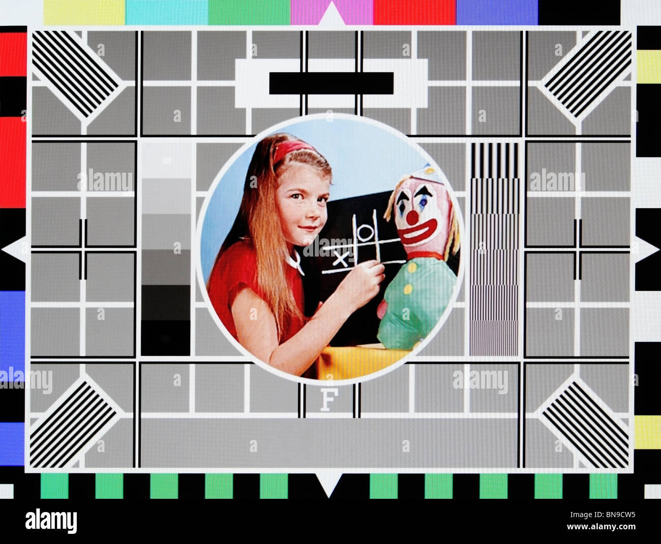 BBC Test Card F Stock Photo