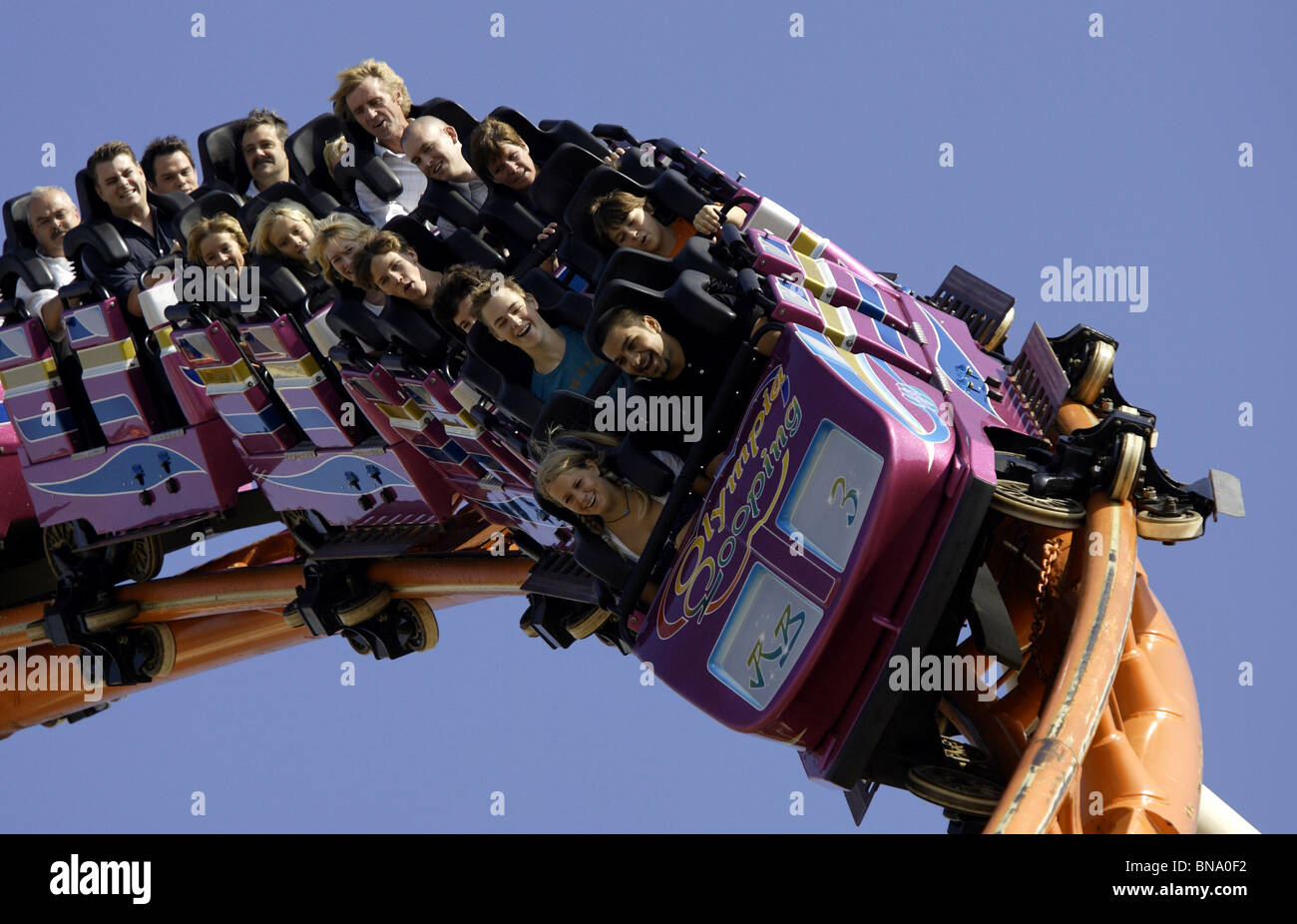 roller coaster funfair ride looping oktoberfest munich germany stock photo royalty free image. Black Bedroom Furniture Sets. Home Design Ideas