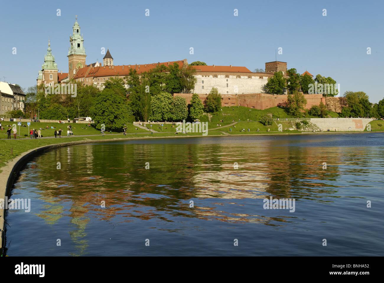 Wisla Krakow: Fortress Royal Castle Wawel Hill Vistula Wisla Krakow
