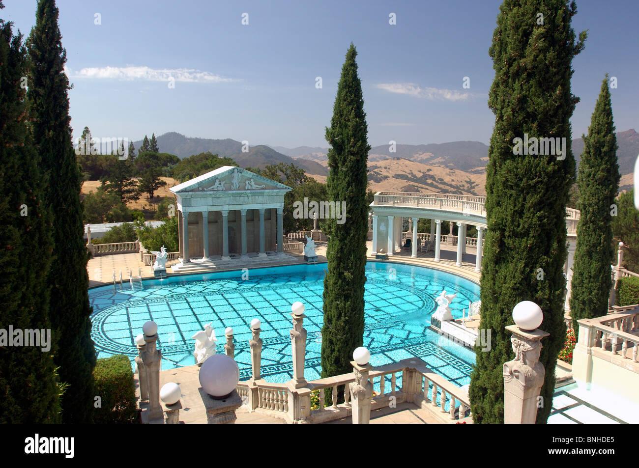 Usa san simeon california neptune pool hearst castle state for Castle gardens pool