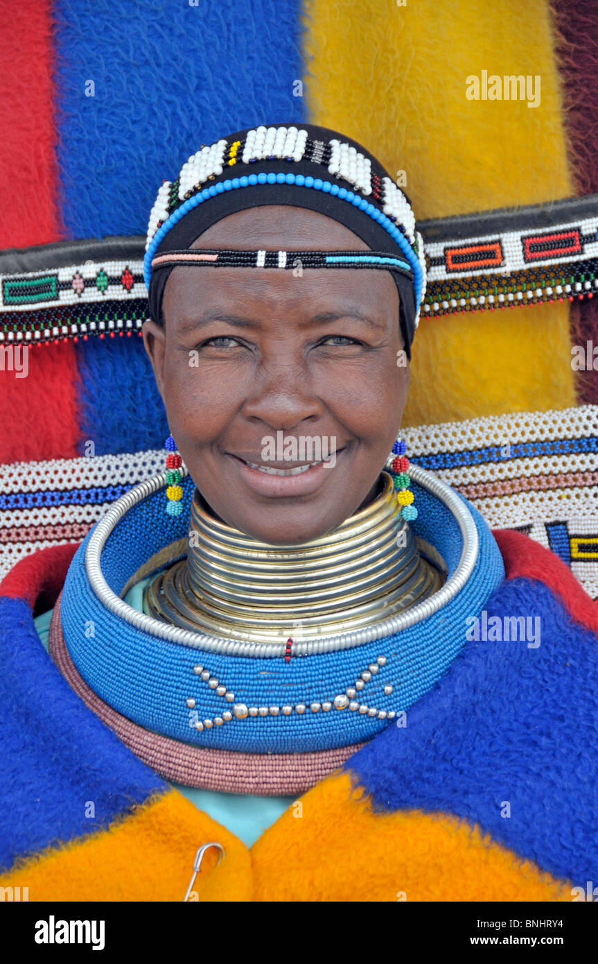 South Africa Traditional Tradition Woman Portrait Ndebele