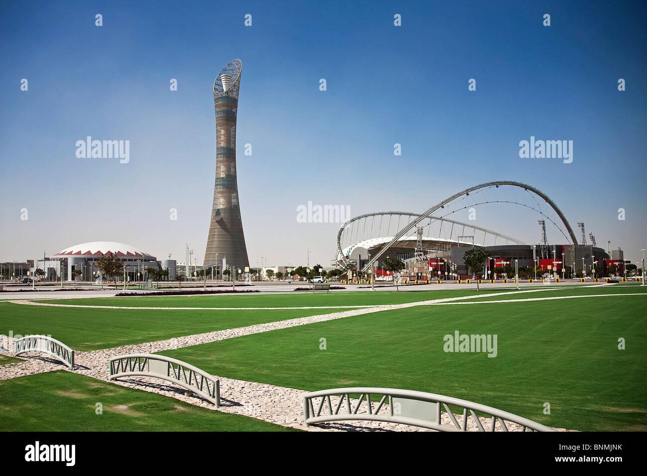 Qatar UAE United Arab Emirates architecture block of flats ...