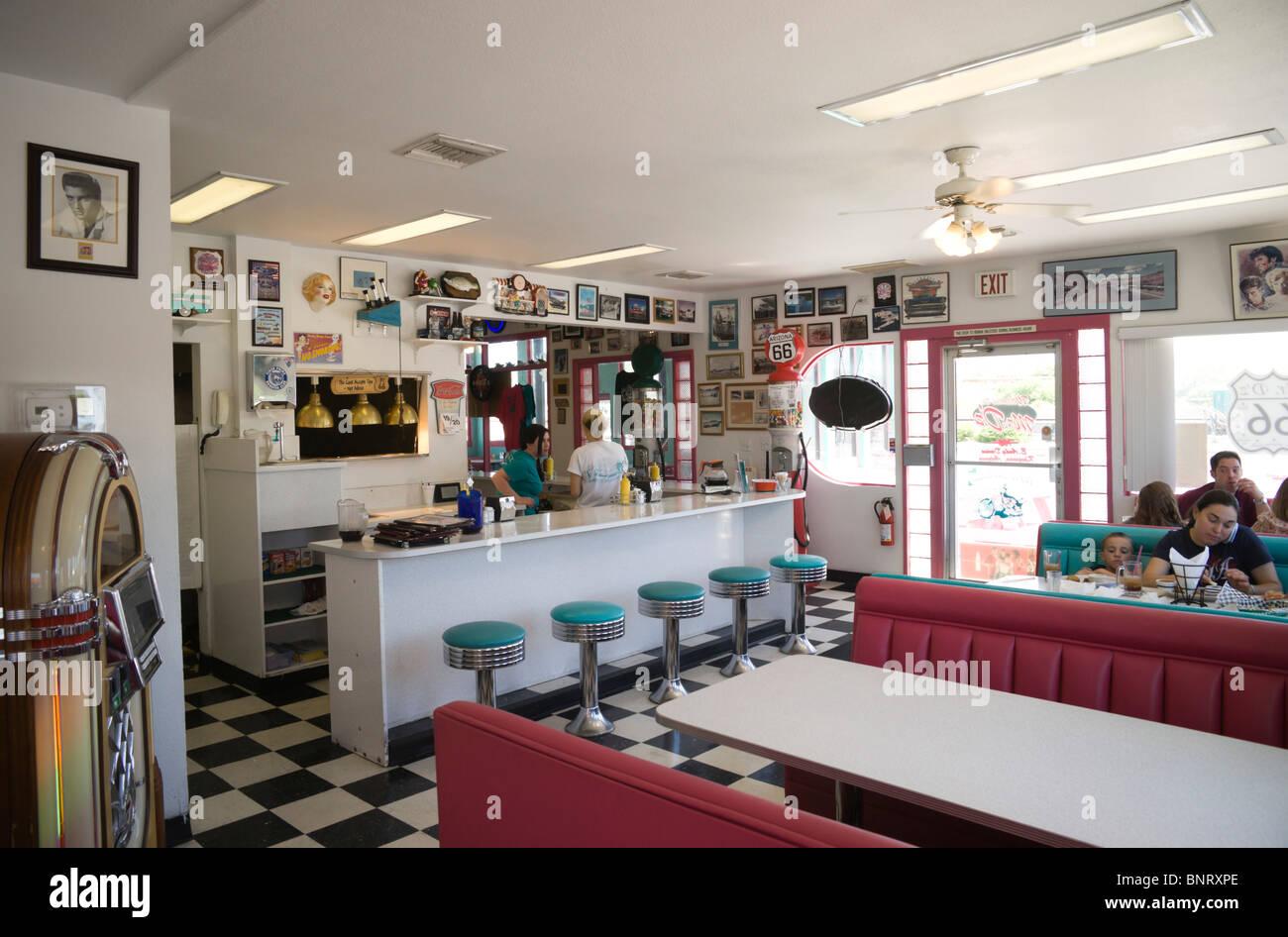 Route 66 road trip arizona kingman az historic town mr for Diner style curtains
