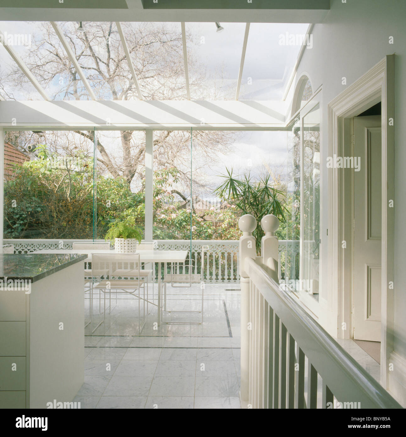Large Modern White Kitchen Dining Room Extension With