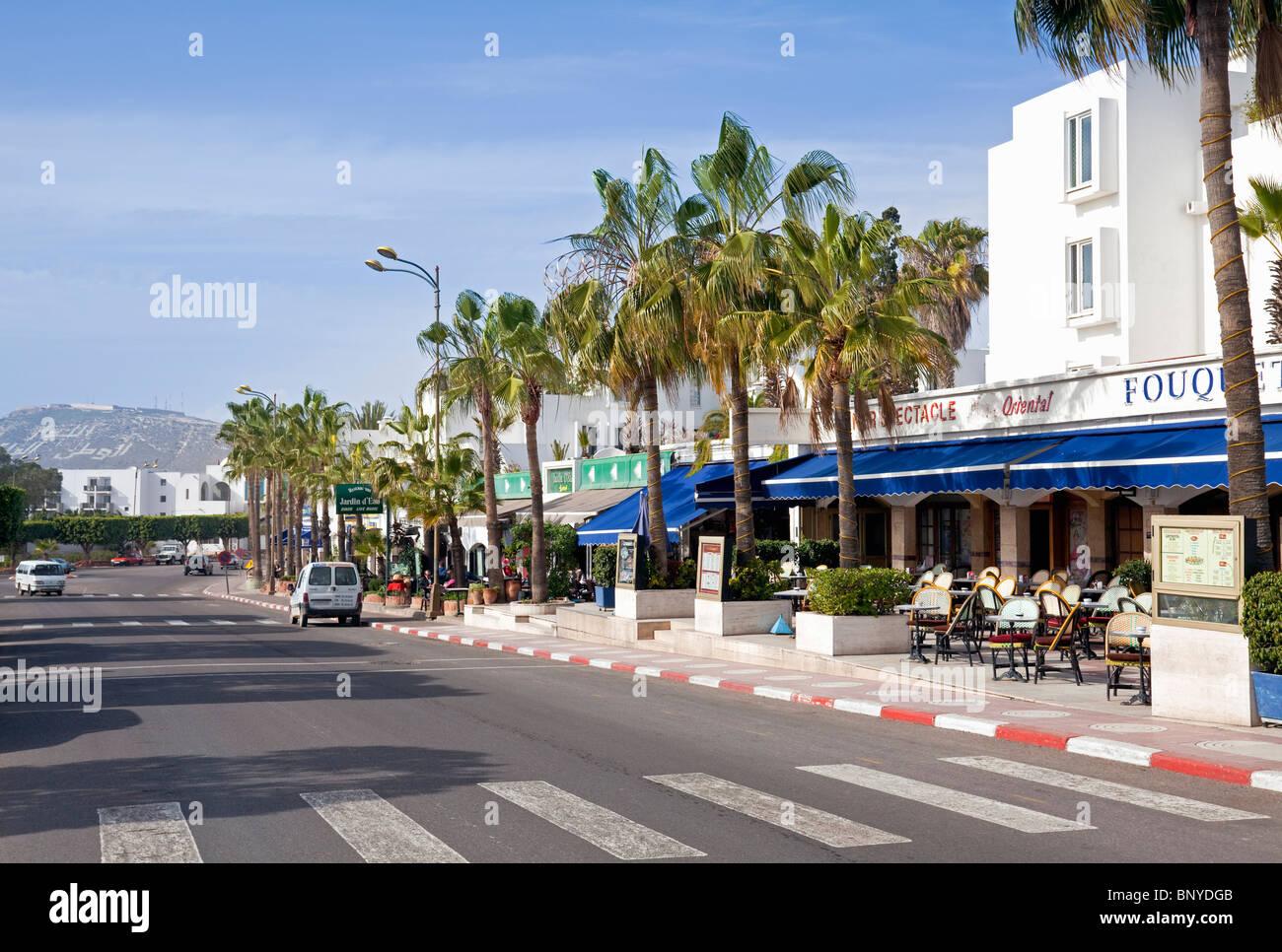 Morocco atlantic coast agadir boulevard du 20 aout with for Boulevard du jardin botanique 20
