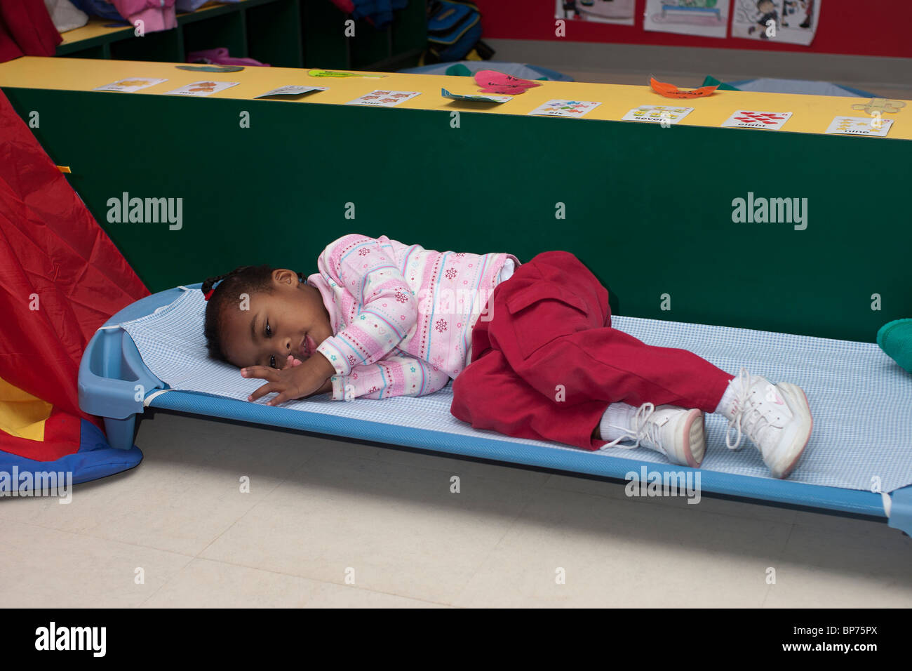 preschool nap 4 year preschool lying on a cot during nap time 822