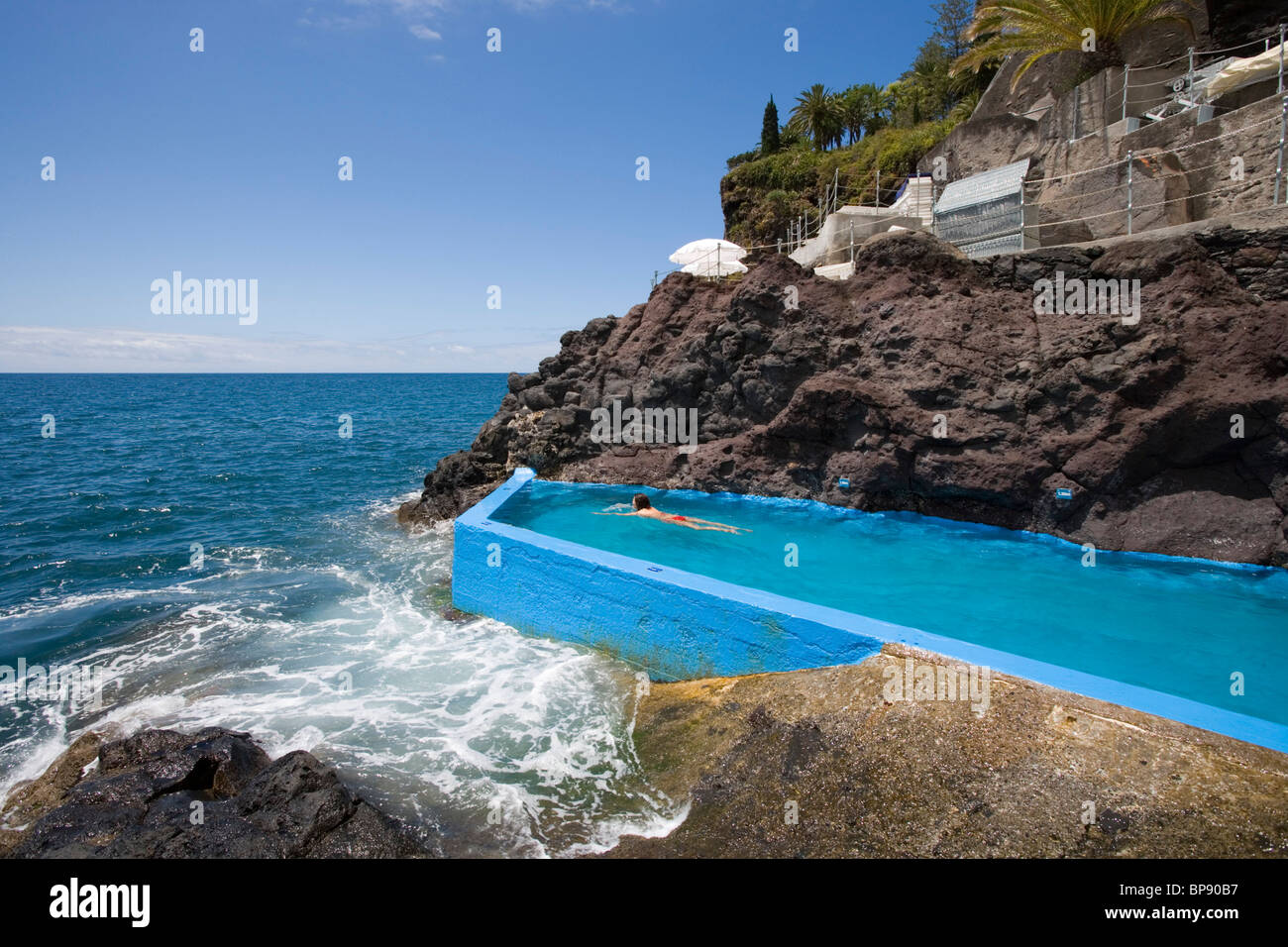 seawater swimming pool at reid 39 s palace hotel funchal madeira stock photo royalty free image. Black Bedroom Furniture Sets. Home Design Ideas