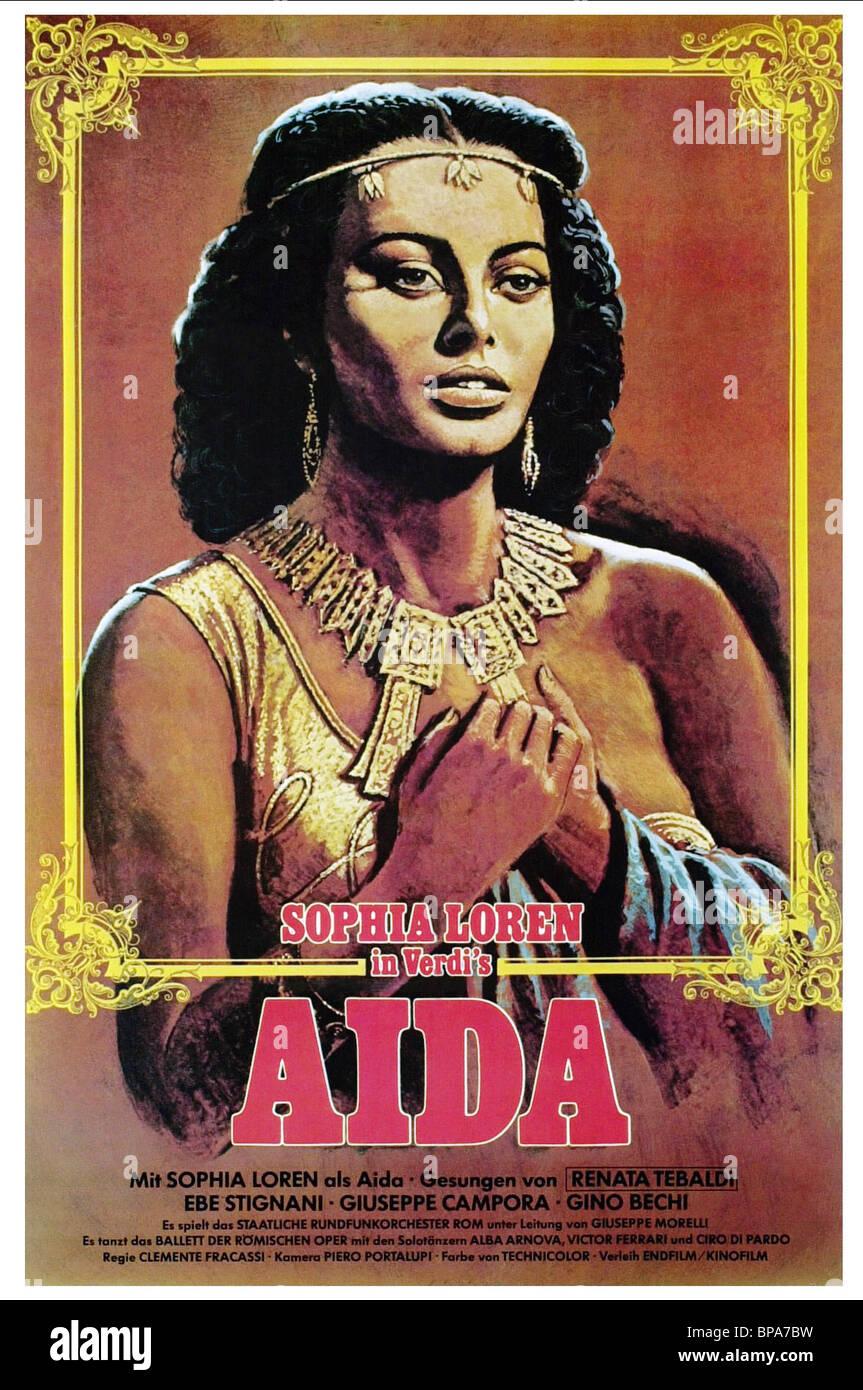 sophia loren poster aida 1953 stock photo royalty free