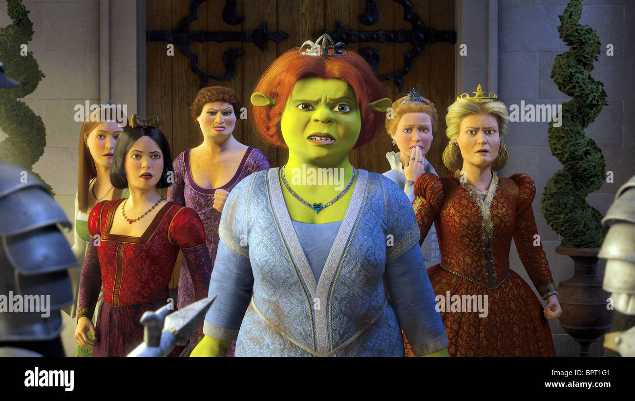 shrek the third and princess fiona Plot king harold (voiced by john cleese) falls ill and his ogre son-in-law shrek (voiced by mike myers) and daughter princess fiona (voiced by cameron diaz) are next.