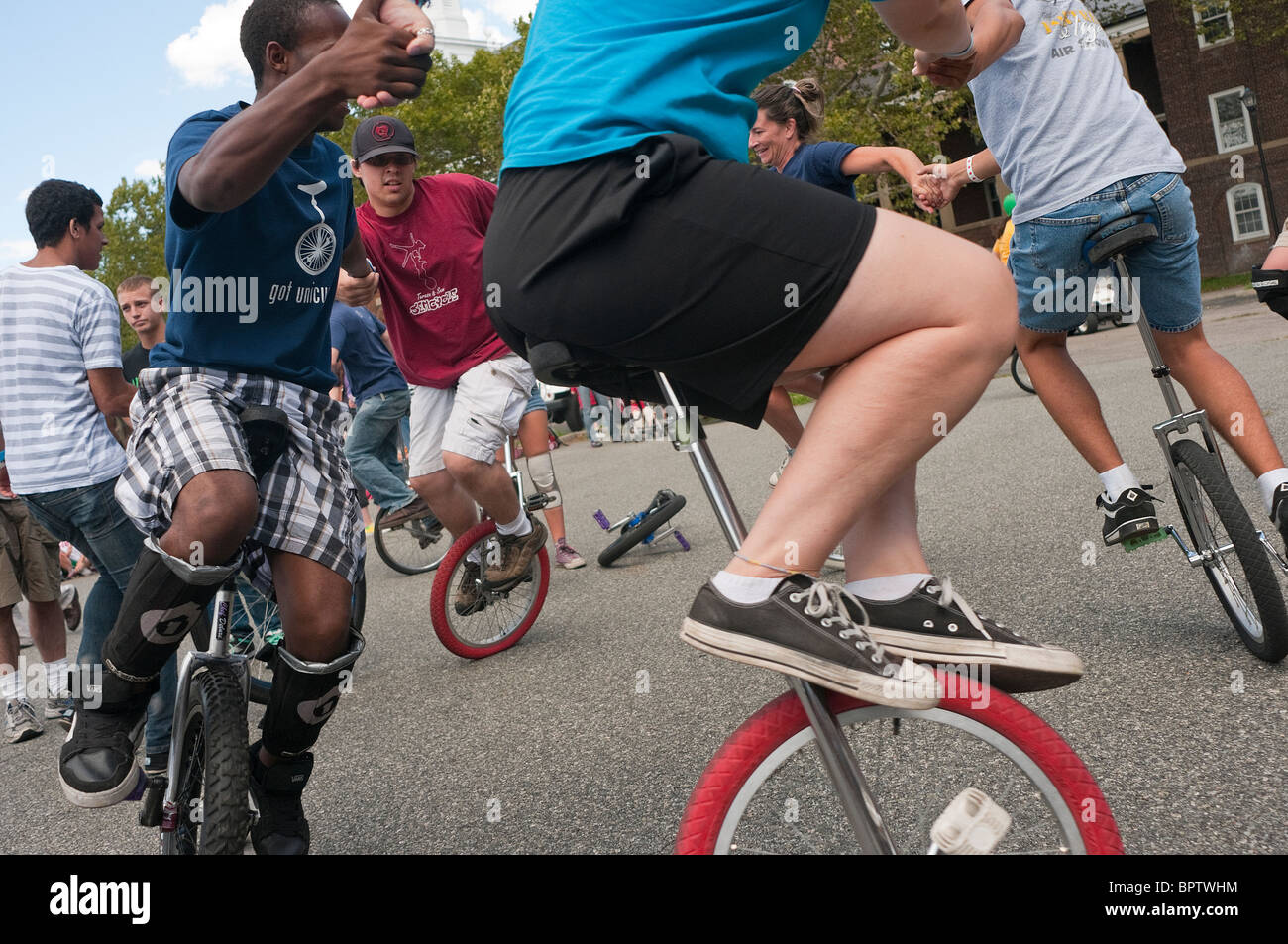 unicyclists-ride-in-a-circle-during-the-