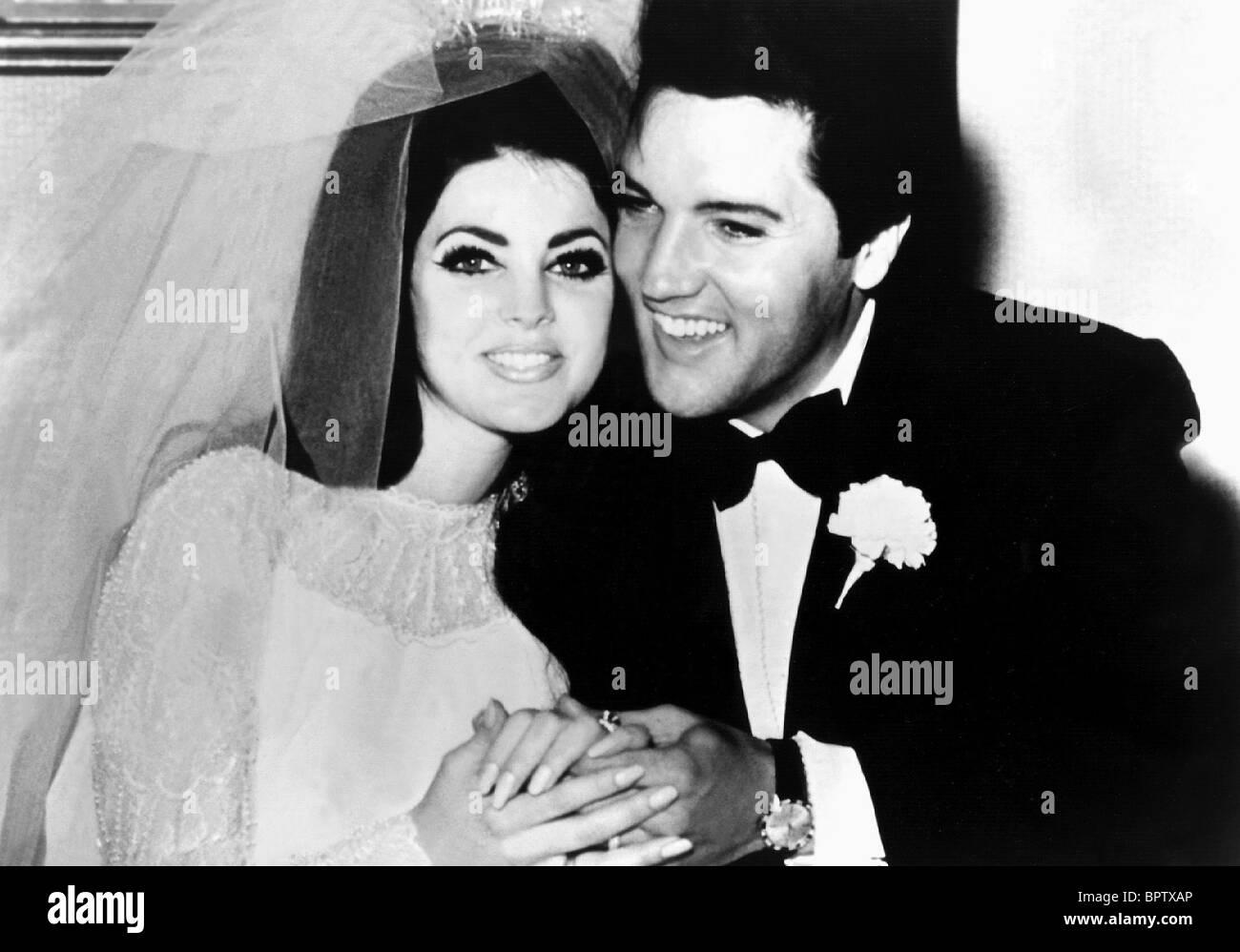 PRICILLA PRESLEY & ELVIS PRESLEY WIFE & HUSBAND (1967) Stock Foto