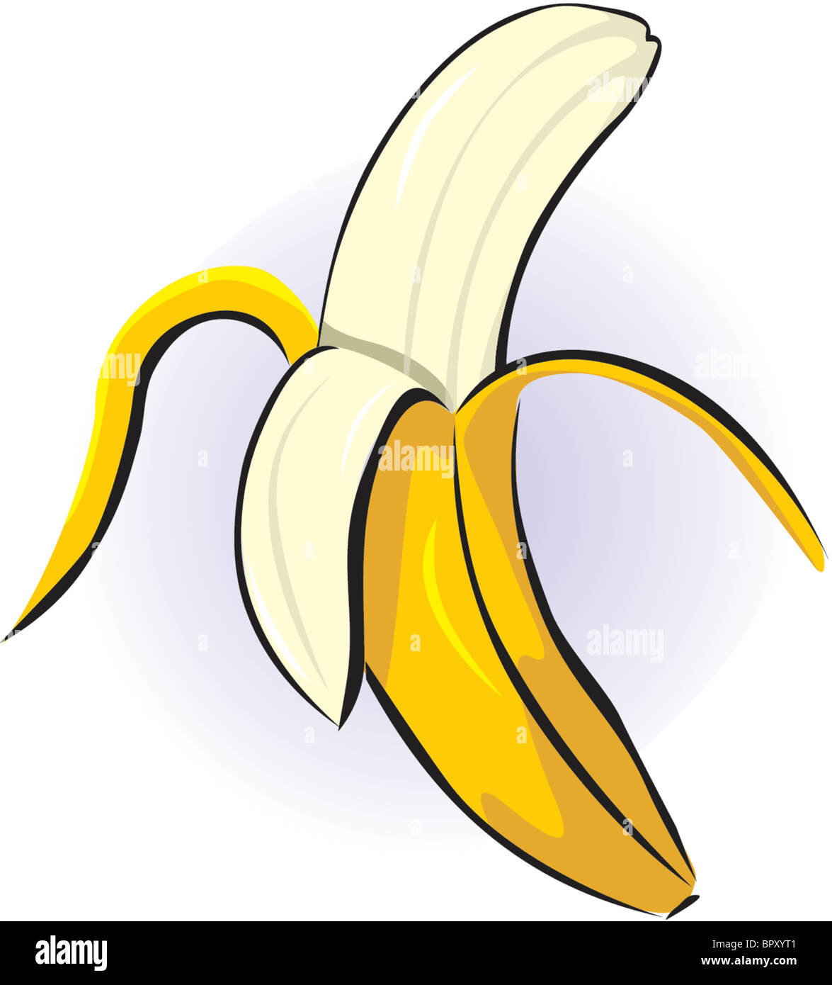 Line Drawing Banana : Drawing of a peeled banana stock photo alamy