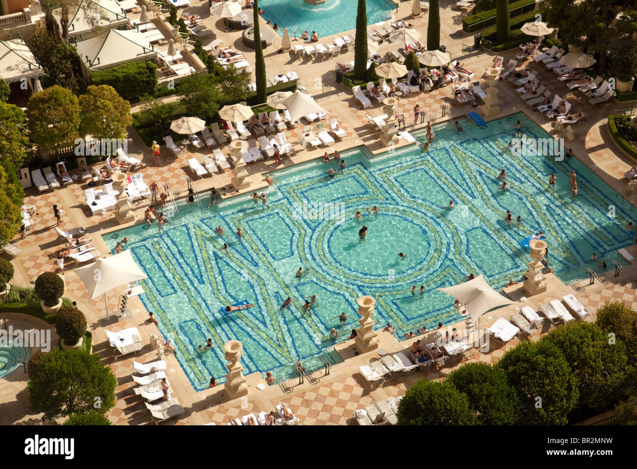 The Swimming Pools At The Bellagio Hotel Las Vegas Usa Stock Photo Royalty Free Image