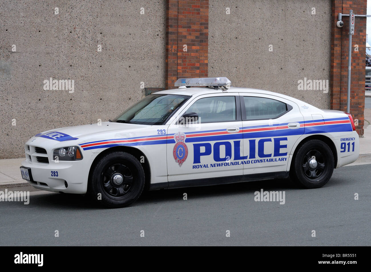 dodge charger police car in the newfoundland police force canada stock photo royalty free image. Black Bedroom Furniture Sets. Home Design Ideas