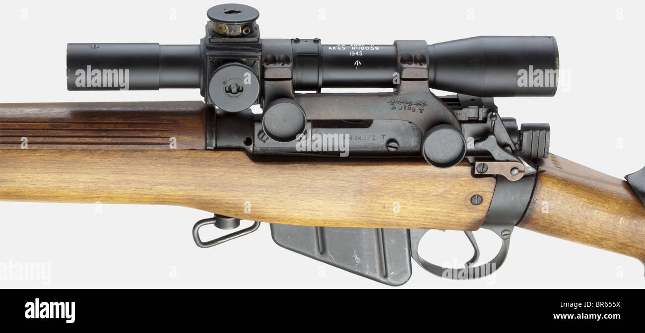 a sniper rifle lee 2  t  with scope no