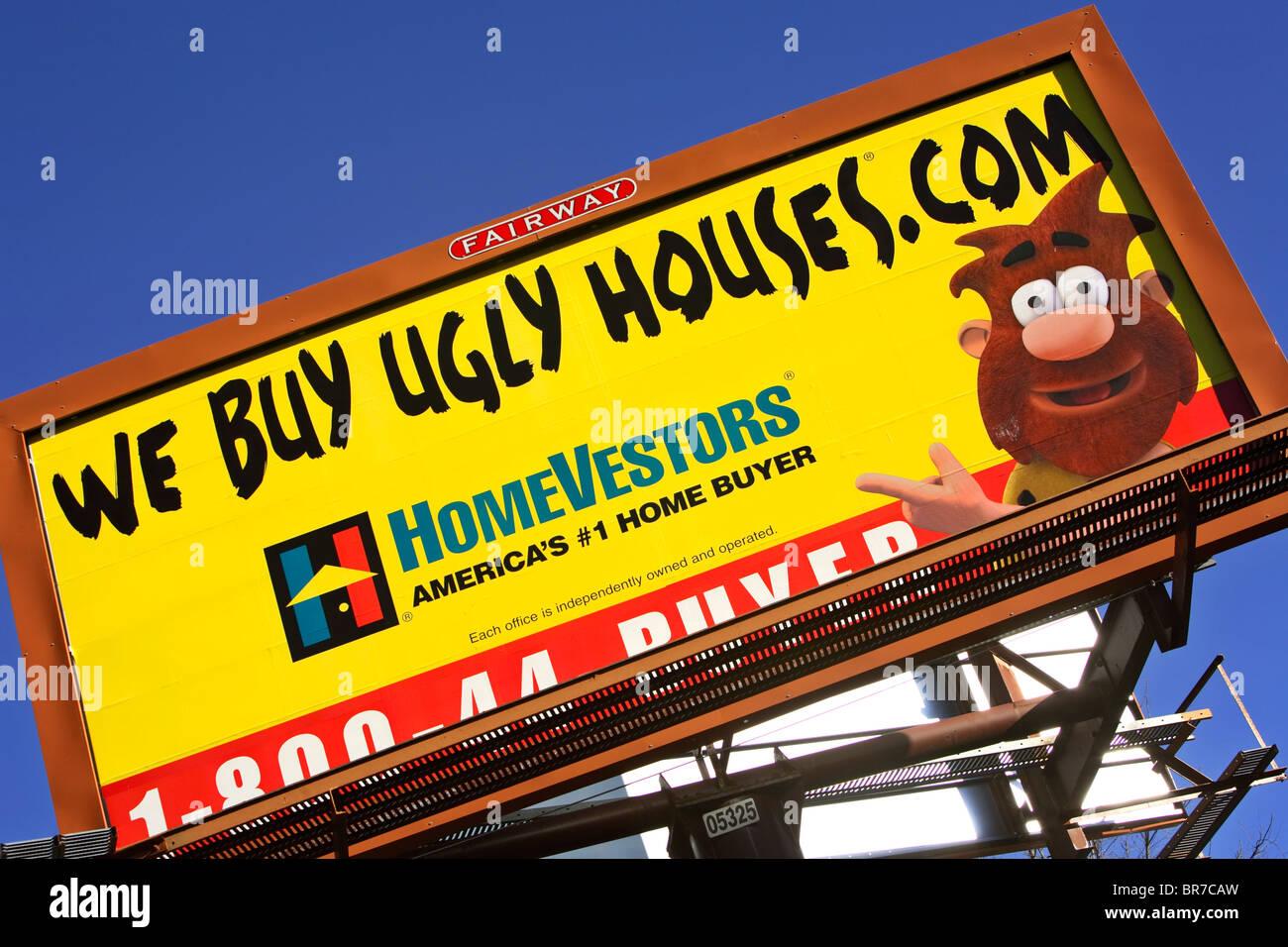 A Homevestors Billboard In Asheville