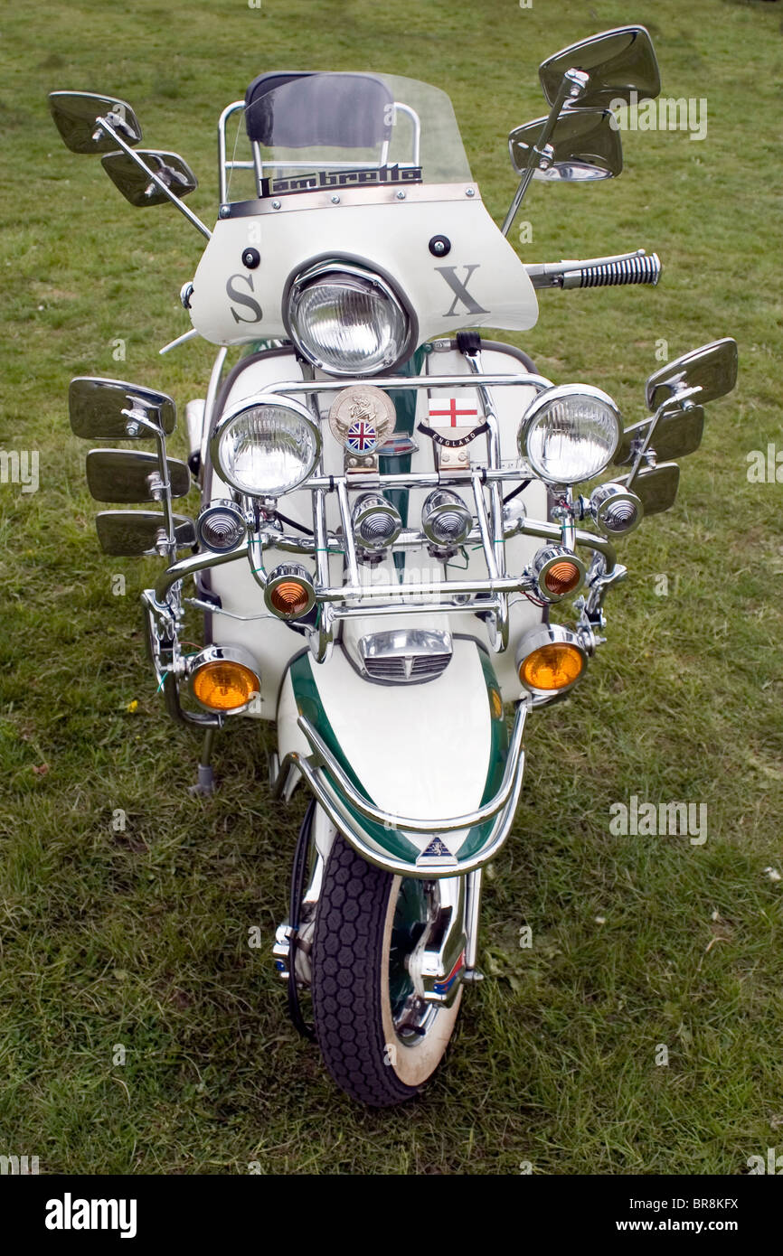 A Lambretta Motor Scooter A Mod 39 S Motor Bike Covered With