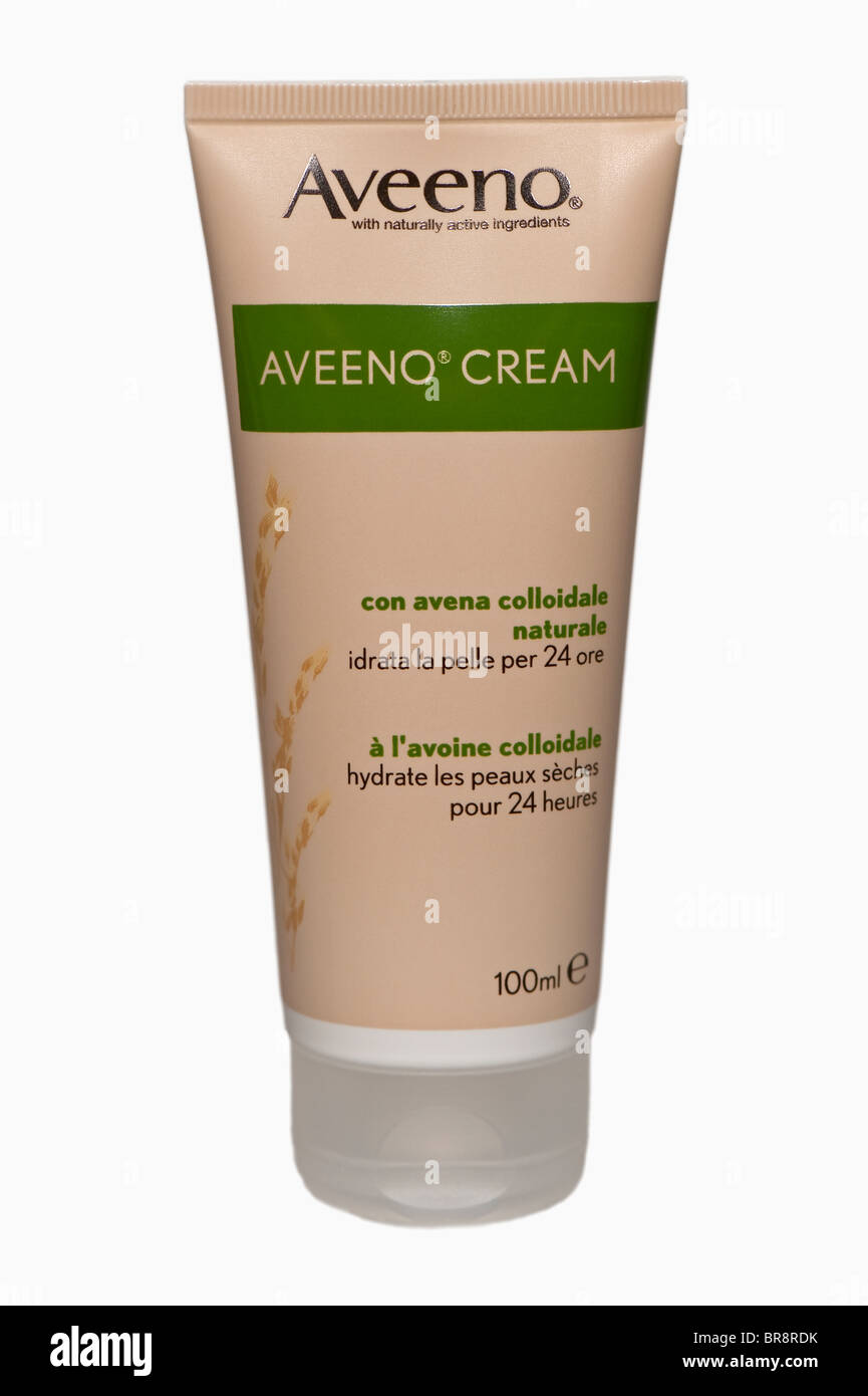 Stock Photo - 100ml of Aveeno cream with natural colloidal oatmeal for eczema sufferers or people prone to eczema