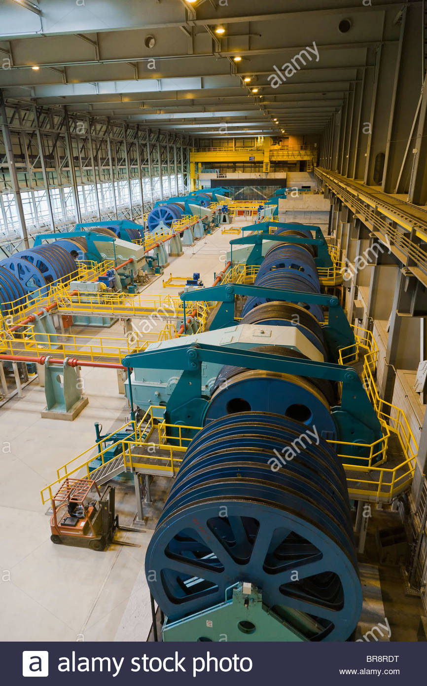 Boat Engine Room: Engine Room Interior Funicular Boat Lift Winches Cable