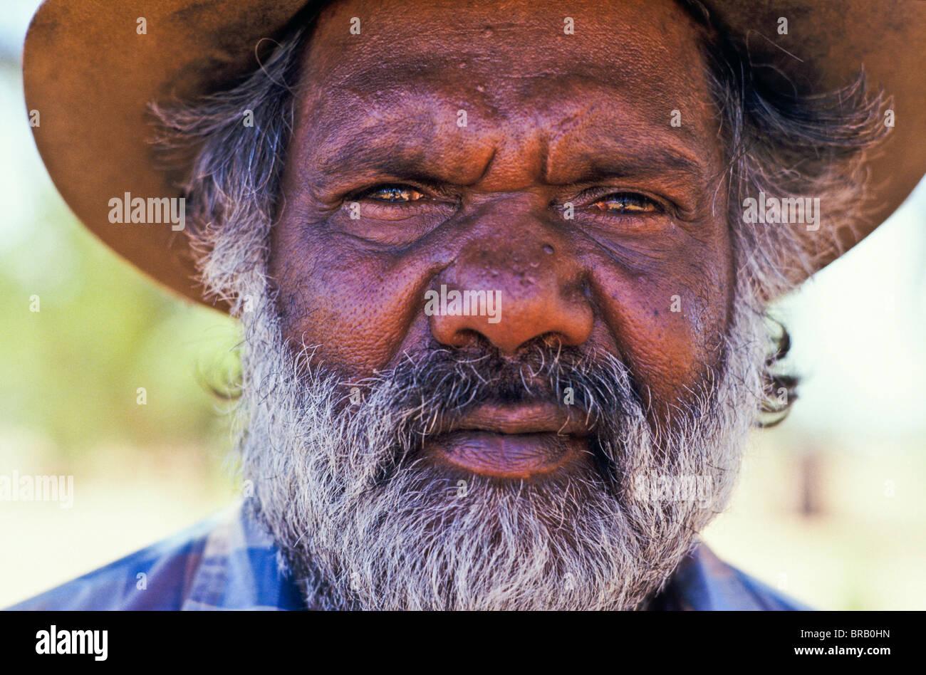 aboriginal tribal elder  australia stock photo  royalty