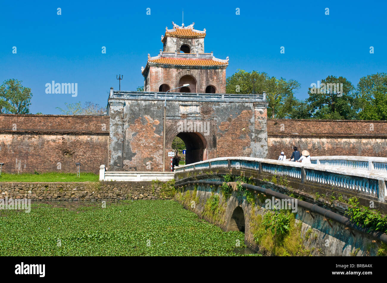 entrance gate to the citadel hue vietnam indochina southeast stock photo royalty free image. Black Bedroom Furniture Sets. Home Design Ideas