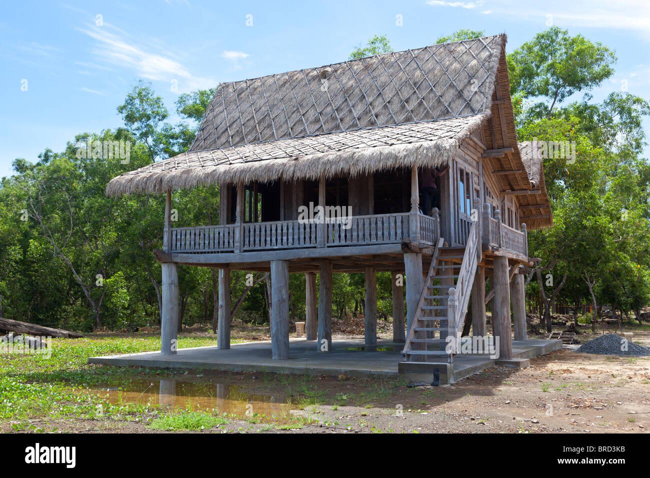 Traditional Wooden Malaysian House Tuaran Sabah Borneo