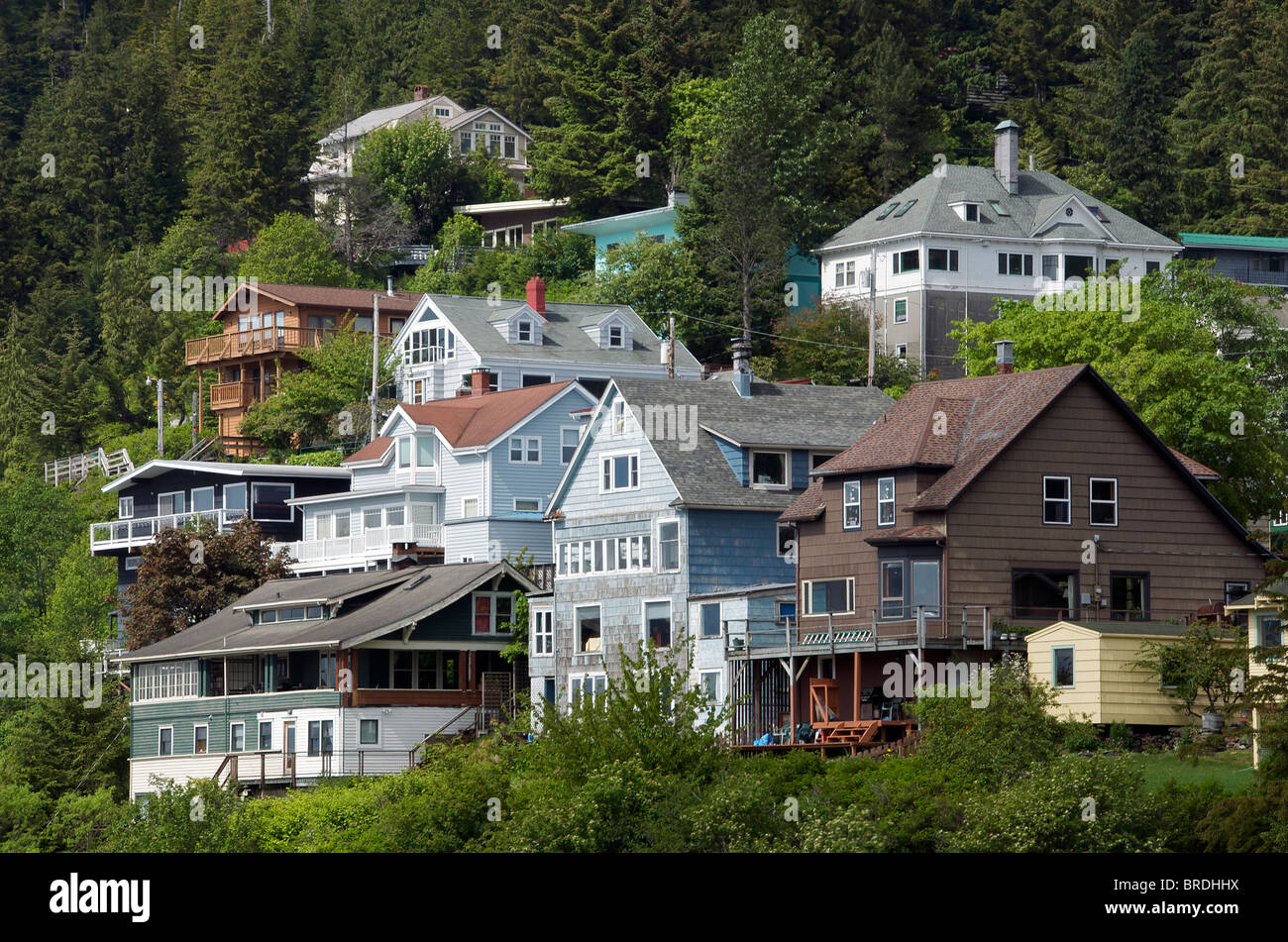Weatherboard houses ketchikan inside passage alaska usa for Building a house in alaska