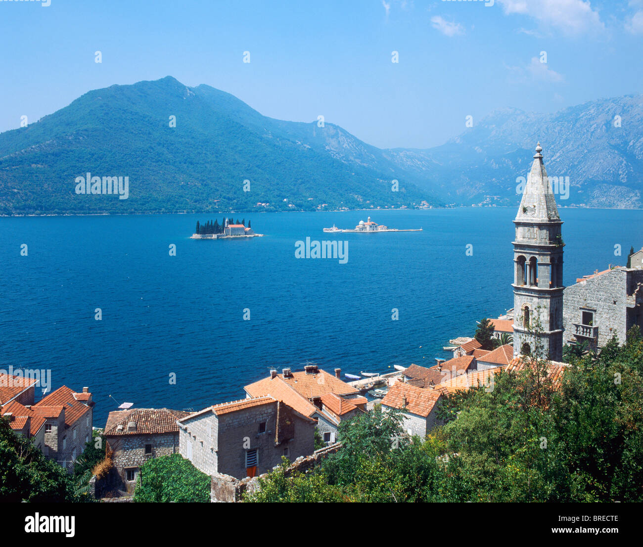 Perast, Bay of Kotor, Montenegro Stock Foto