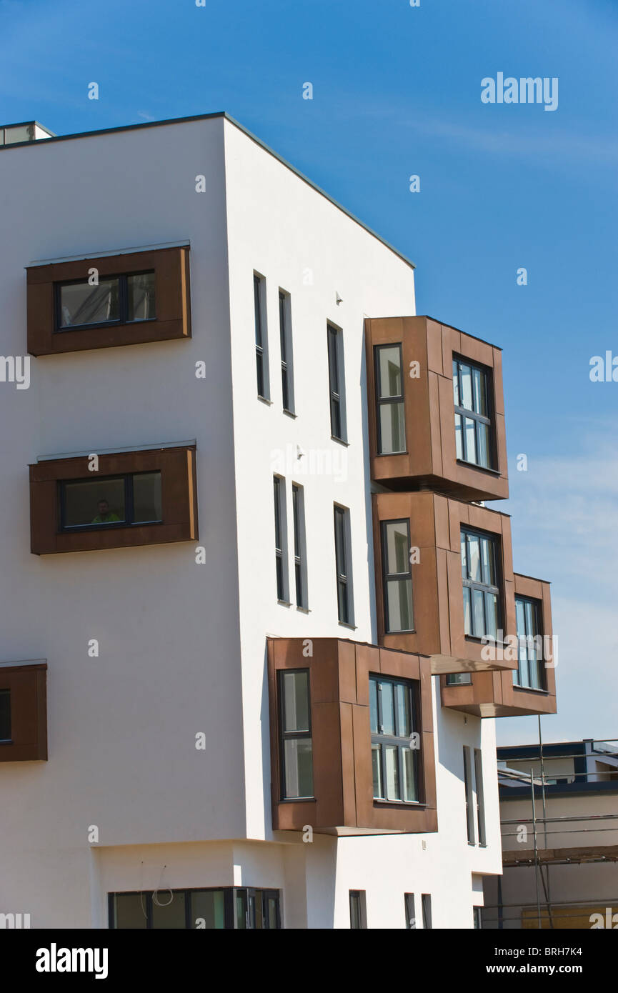 Copper Clad Window : Modern apartments with copper clad window frames under